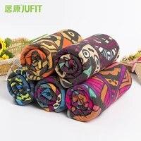 jufit 183 63cm non slip yoga mat cover towel anti skid blanket sport fitness exercise pilates workout yoga mat