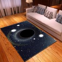3D Universe Black Hole series Print Carpet Baby Crawl Mat Kids Room Area Rug Mat Soft Flannel Home Decor Carpets for Living Room