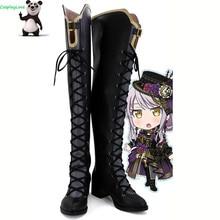 Sen CosplayLove BanG! Cosplay czarny Minato Yukina Cosplay buty długie buty wykonane na zamówienie dla dziewczyn kobiet