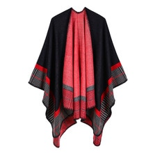 Capas femeninas térmicas acrílicas de Cachemira Ponchos a rayas con aislamiento de aire acondicionado para mujer