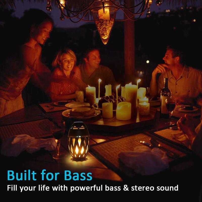 Portable Wireless Speaker LED Flame Light Loudspeaker Bluetooth Speaker Outdoor Player with LED  Flame Torch Light Flicker Light enlarge