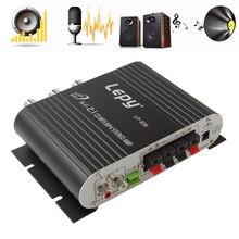 Автомобильный усилитель Lepy LP 838, 12 В, мини Hi Fi 2,1, усилитель, радио, CD, MP3, MP4, стерео, усилитель, басовый динамик, плеер для автомобиля и дома