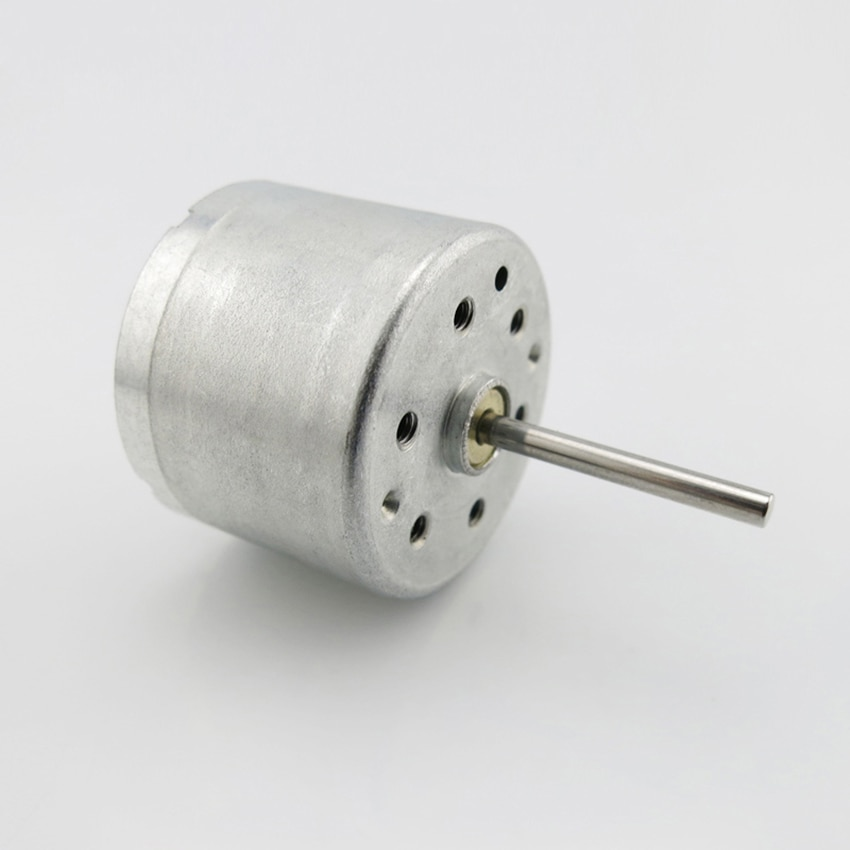 1PC 310 eje largo micromotor Solar DC motor de baja tensión 17mm del Eje 3V 3500RPM 6V 6800RPM Motor de imán DIY Experimental
