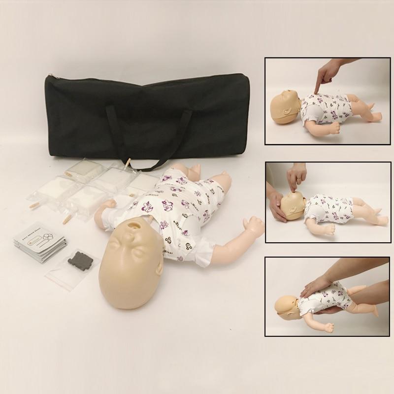 Obstrucción de la vía aérea infantil avanzada y intubación traqueal simulada modelo de CPR