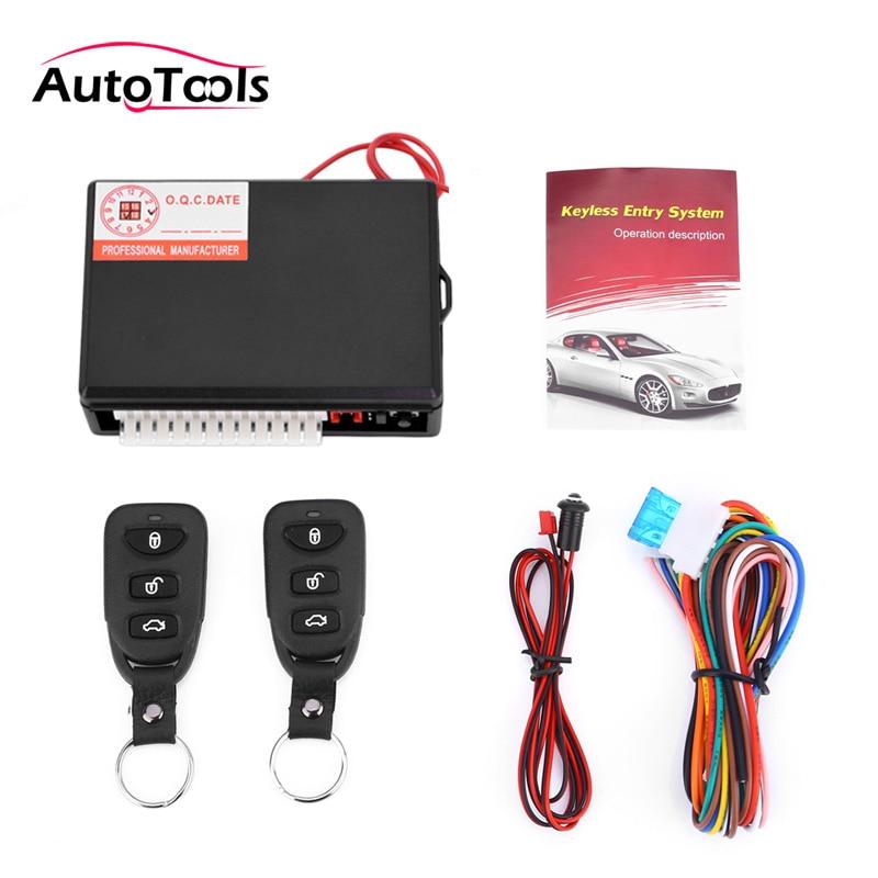 Anti-theft alarm system car central lock vehicle keyless Unlock Entry With Remote Control 12v auto alarm system