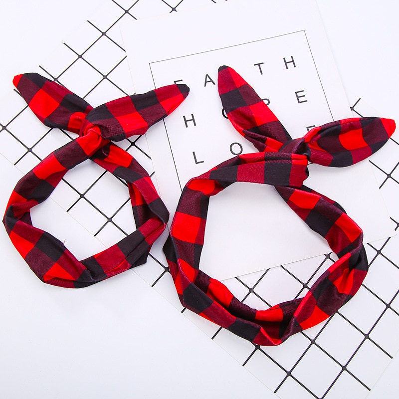 6 Patterns Turban 2 Sizes Dots Floral Plaid Cloth Hairbands Headbands Headwear for Mother & Kids Wom