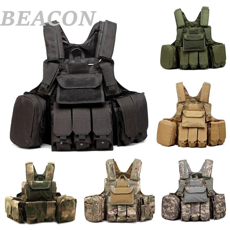 Новый тактический военный жилет для страйкбола, пейнтбола, боевой Молл, жилет CIRAS, съемные бронированные пластины, несущая ударная сумка, аксессуары, жилет