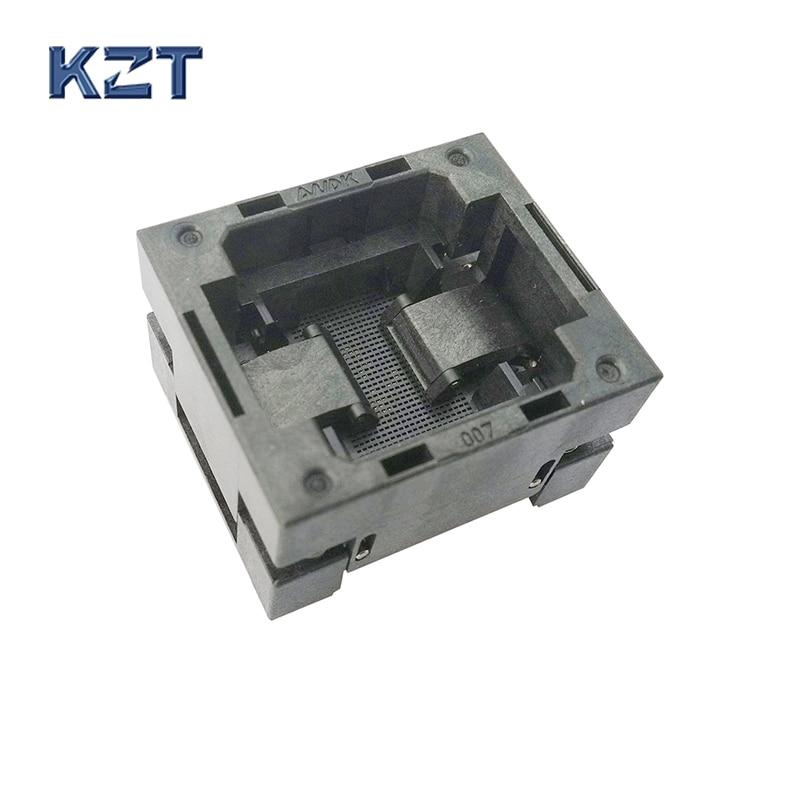 BGA80 OPEN TOP Burn in socket pitch 1.0mm IC size 8*8mm BGA80(8*8)-1.0-TP01/50N BGA80 VFBGA80 burn in programmer socket