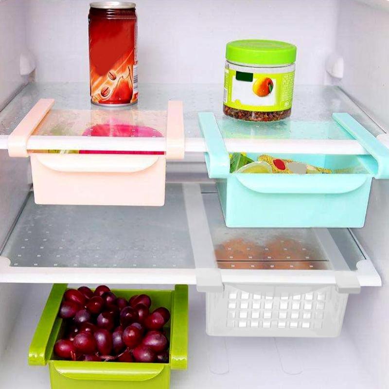 New Fridge Mate Refrigerator Pull Out Bin Home Organizer Drawer Space Saving Organizer Egg Storage Box
