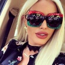 Fashion Square Sunglasses Women Luxury Brand Designer Oversized Frame Way Out Sun Glasses Hipster La