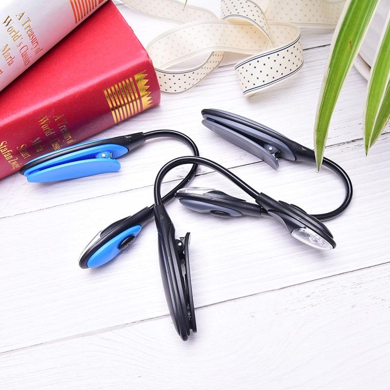 3 couleurs Mini Portable Flexible LED lampe de lecture lampe Clip sur livre lumière bureau lumière blanc lumineux voyage lumière