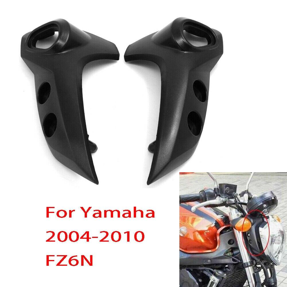 Para Yamaha FZ6 FZ6-N FZ6N negro Nuevo soporte para faro parte superior de la motocicleta piezas de plástico 2004, 2005, 2006, 2007, 2008, 2009 FZ 6N