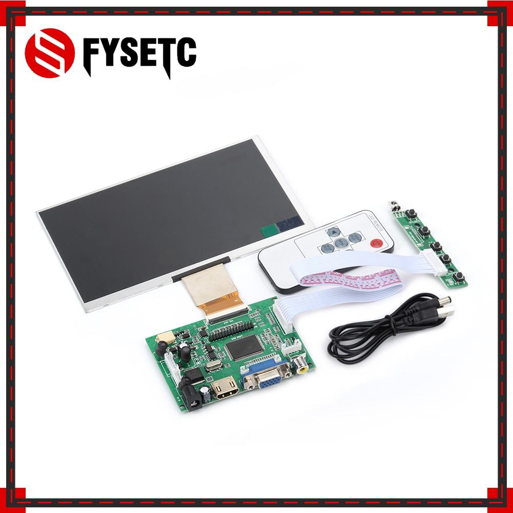7 بوصة التوت بي 3 نموذج B + LCD TFT عرض 1024*600 50pin شاشة + محرك مجلس HDMI VGA + التحكم عن بعد ل التوت بي 3
