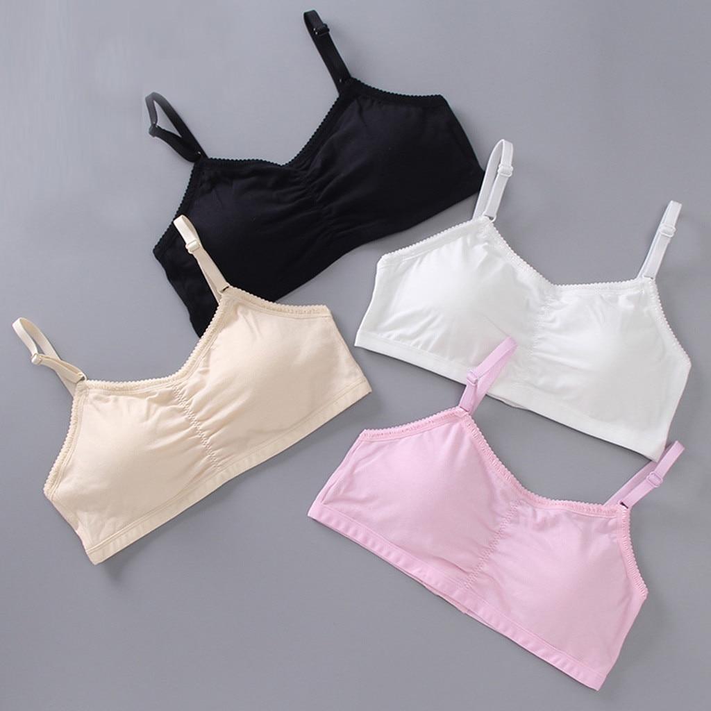Soutien-gorge sous-vêtements pour filles   Sous-vêtements pour enfants, gilet de soutien-gorge sous-vêtements à boucle ajustable, sous-vêtements pour filles et adolescentes V23 %