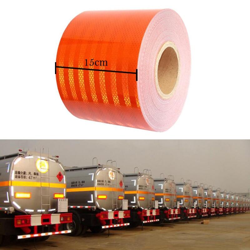 15cm Width High Quality Reflective Orange Belt Auto Super Grade Reflective Sticker Oange Reflective Warning Tape