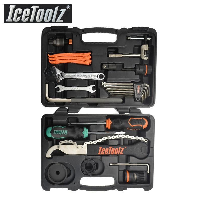 IceToolz 82F4 esencia herramienta Kit de bicicleta de herramienta de reparación de bicicletas caja de herramienta de reparación de ciclismo juego de caja de herramientas