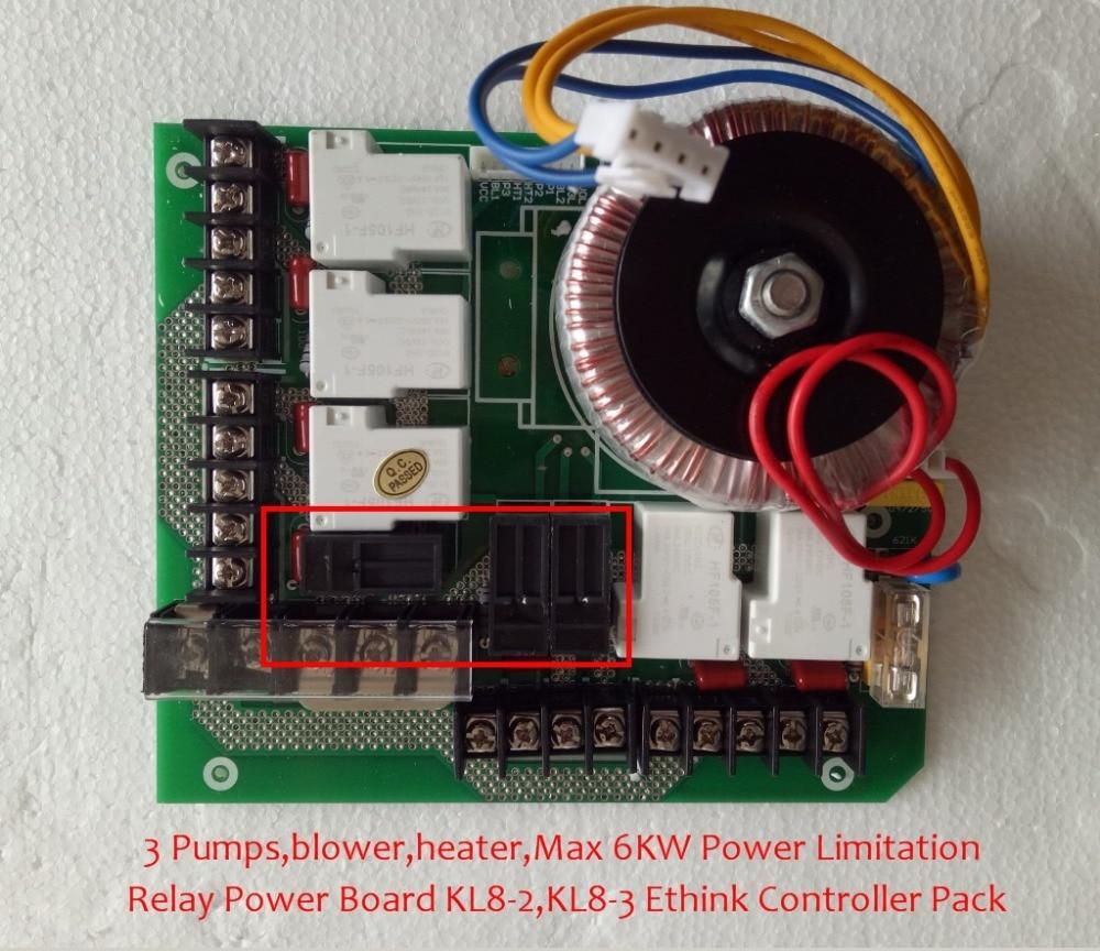 Ethink الطاقة الأم مجلس الإستحمام الرئيسي التتابع مجلس الطاقة ل KL8-2 KL8-3 سبا-8028 مع 3 مضخات سخان ماكس 6KW الطاقة
