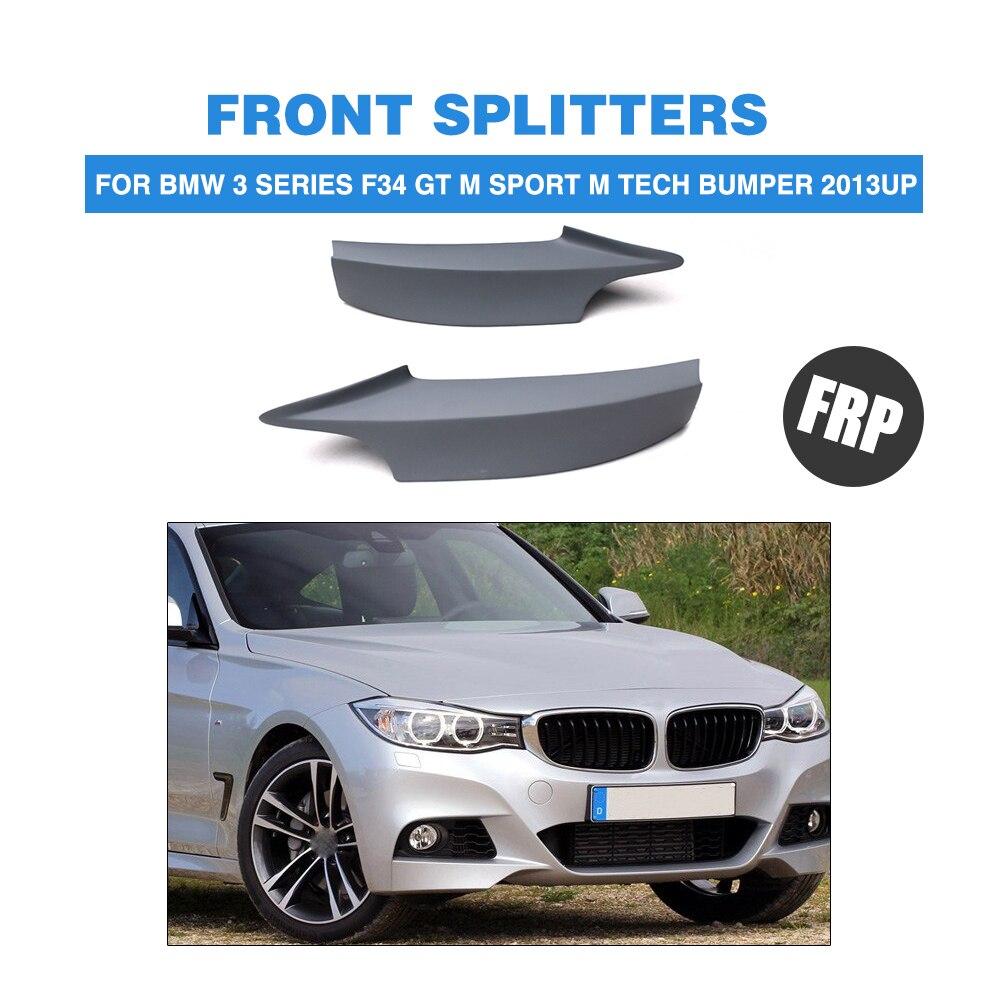 Separador de labios de parachoques delantero de coche para BMW 3 series F34 GT M sport M Tech parachoques 2013UP FRP imprimación gris sin pintar