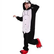 Pyjamas de Costume de bande dessinée Animal léopard noir Pyjamas Cosplay Panthers vêtements de nuit Halloween dame femmes hommes Cosplay vêtements