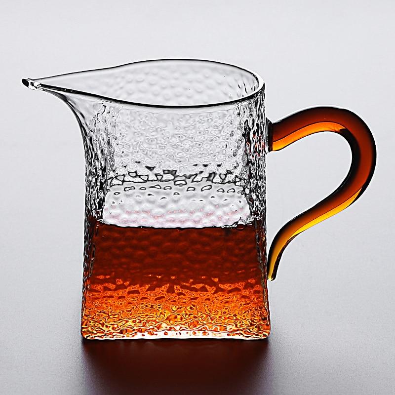 Jarra de té de cristal TANGPIN chahai gongdaobei, accesorios de té de vidrio