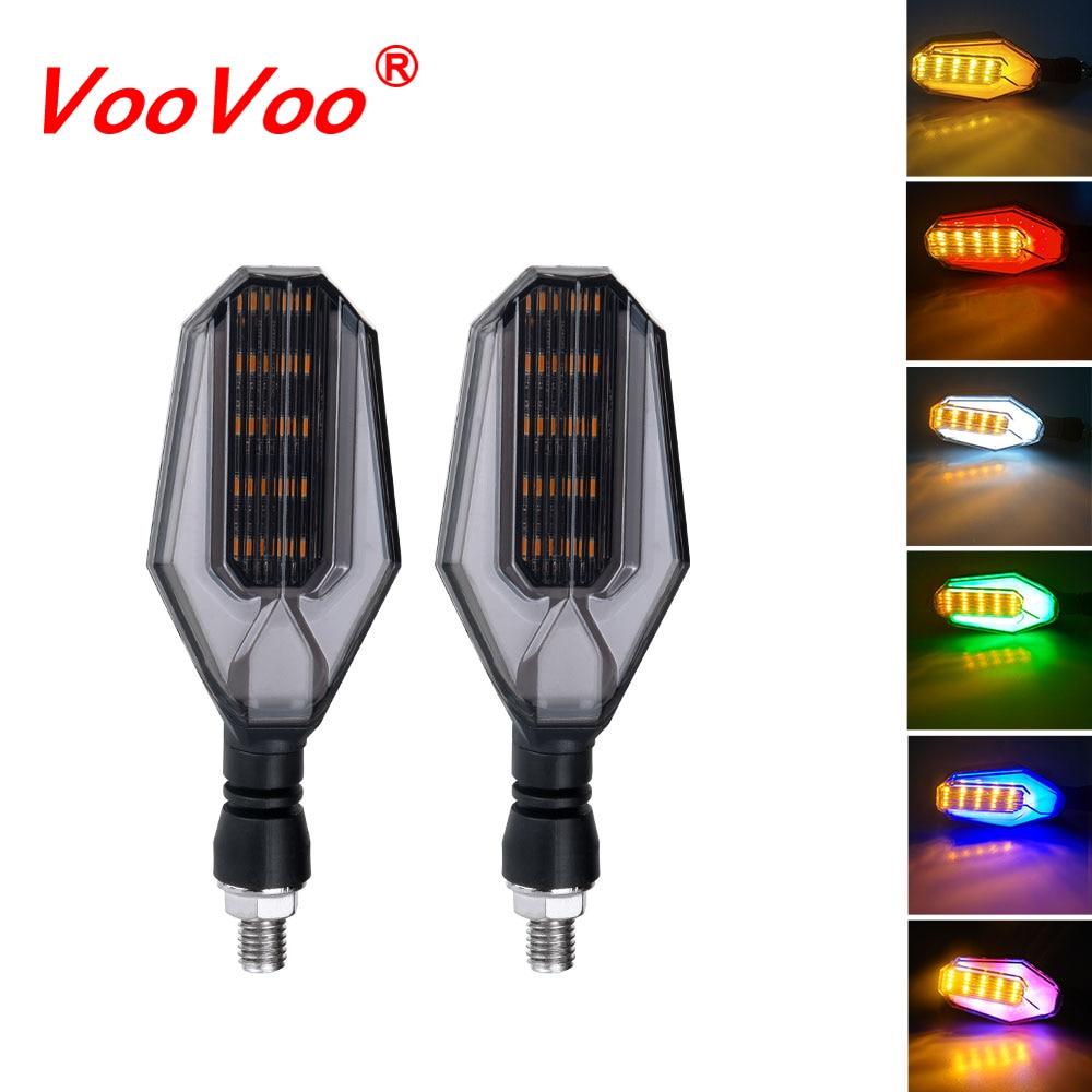 VooVoo, luz LED intermitente de uso doble ámbar para motocicleta, lámpara de circulación diurna DRL, intermitentes, accesorios para motos