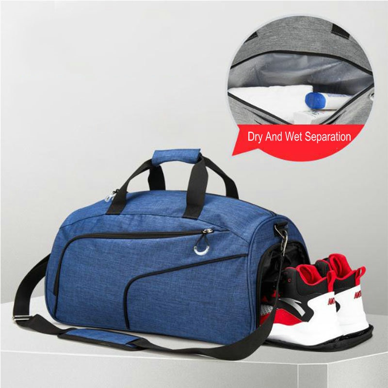 Bolsa de piscina para hombre, bolsas deportivas de gimnasio con bolsillo húmedo y bolsa de viaje para zapatos, bolsa de viaje para mujer, Bikini, traje de baño, bolsa de almacenamiento