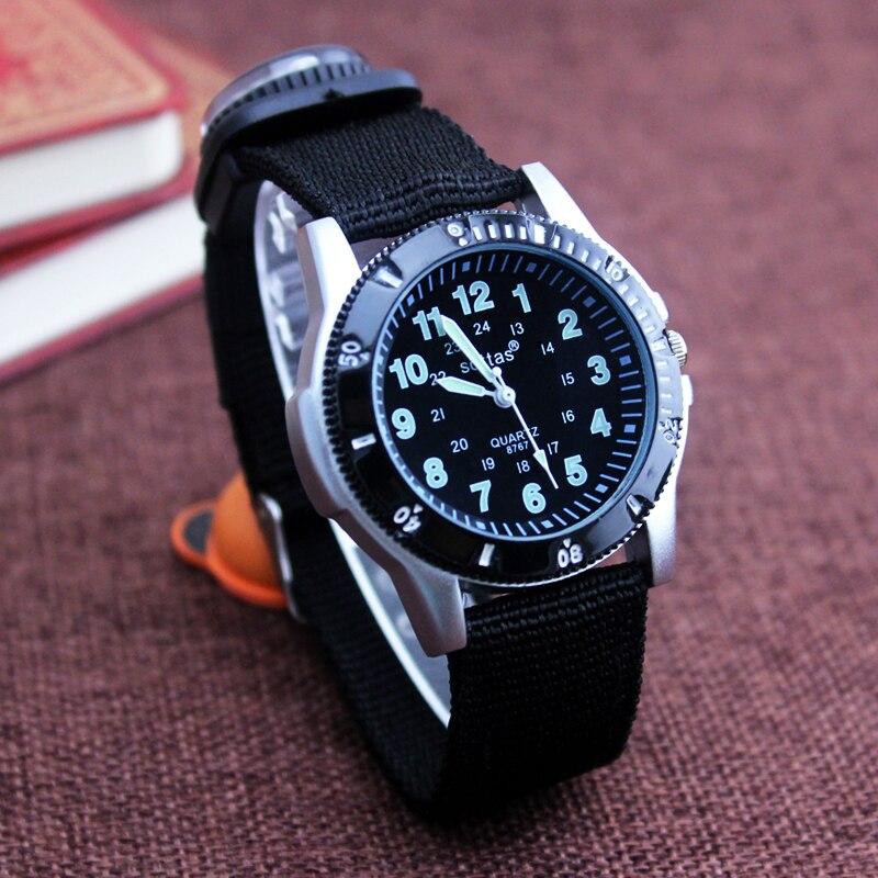 Новые парусиновые часы для мальчиков, модные повседневные часы с регулируемым браслетом и компасом, красивые часы в подарок, 2018