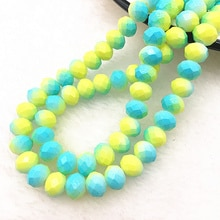 HEIßER 50 teile/los 6x4/8x6mm Rondelle Österreich Facettierte Kristall Glas Perlen Lose Spacer Perlen für Schmuck Machen Diy Armband #10