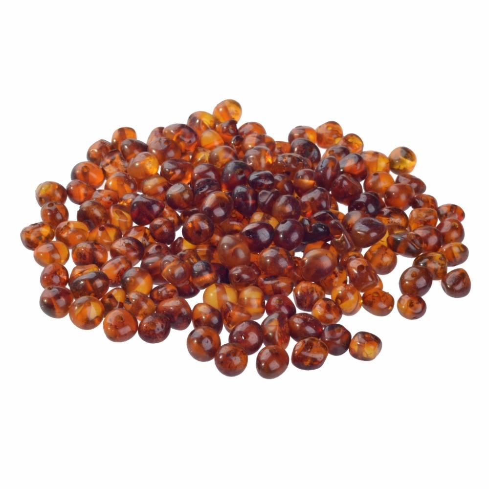 حبات خرز كهرمان البلطيق 5-6 مللي متر عرض ثقوب حفر مسبقا لتوتر المجوهرات-السائبة لتقوم بها بنفسك لوازم لصنع قلادة التسنين