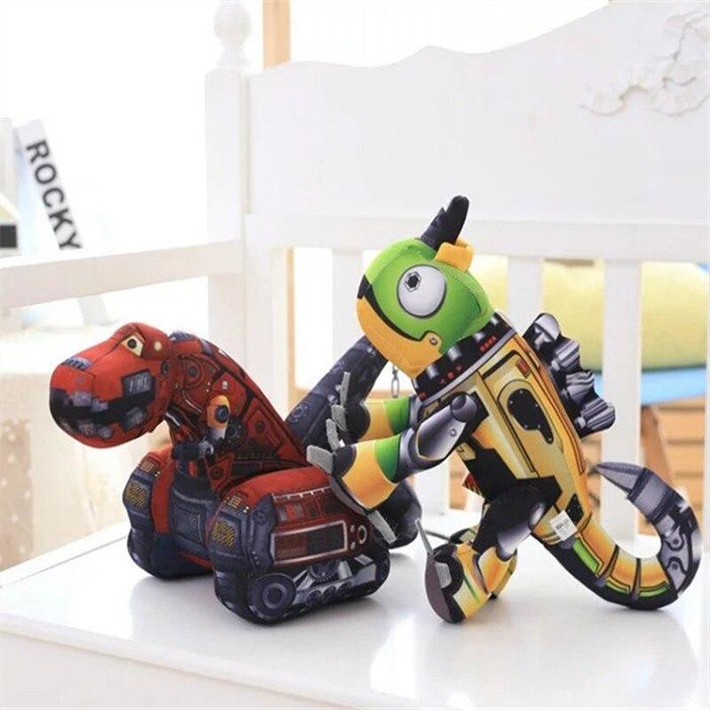 Robot y Tractor creativo de una pieza de 30 CM, juguete relleno de algodón PP, juguetes de peluche de imitación de dibujos animados Súper suaves de alta calidad, 2 estilos
