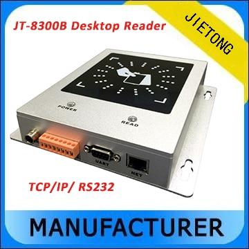 Lector/escritor de tarjetas pasivo UHF RFID de mesa de rango corto con interfaz TCP/IP + sdk gratis + 3 etiqueta gratuita