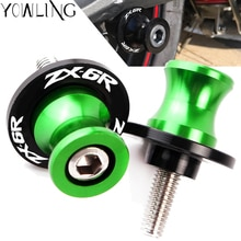 10mm Swingarm Stand Screws CNC Motorcycle Swing Arm Spools Sliders For Kawasaki Ninja ZX-6R ZX600 1998-2011 ZX6R ZX 6R 6 R 600