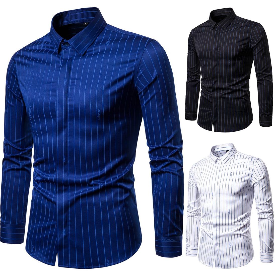 Мужская классическая рубашка с длинными рукавами, деловая Мужская рубашка большого размера, Мужская классическая Куртка