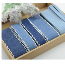 Ruban en denim coton fait main   40mm 4cm 25mm, automne hiver ruban, accessoires nœud, ruban ruban, bricolage 5yard/lot