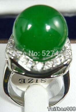 Livraison gratuite> Verde Esmeralda 18 kwgp cristal tamanho faire Anel 7.8.9 anneau