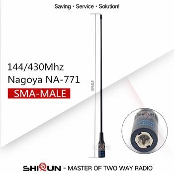 Nagoya NA-771 SMA Male SMA-M Dual Band Antenna For IC-V8 PUXING Yaesu Vertex VX-3R VX-7R ZT-2R PX-2R UV-985 TH-UVF8D TH-UV8000D