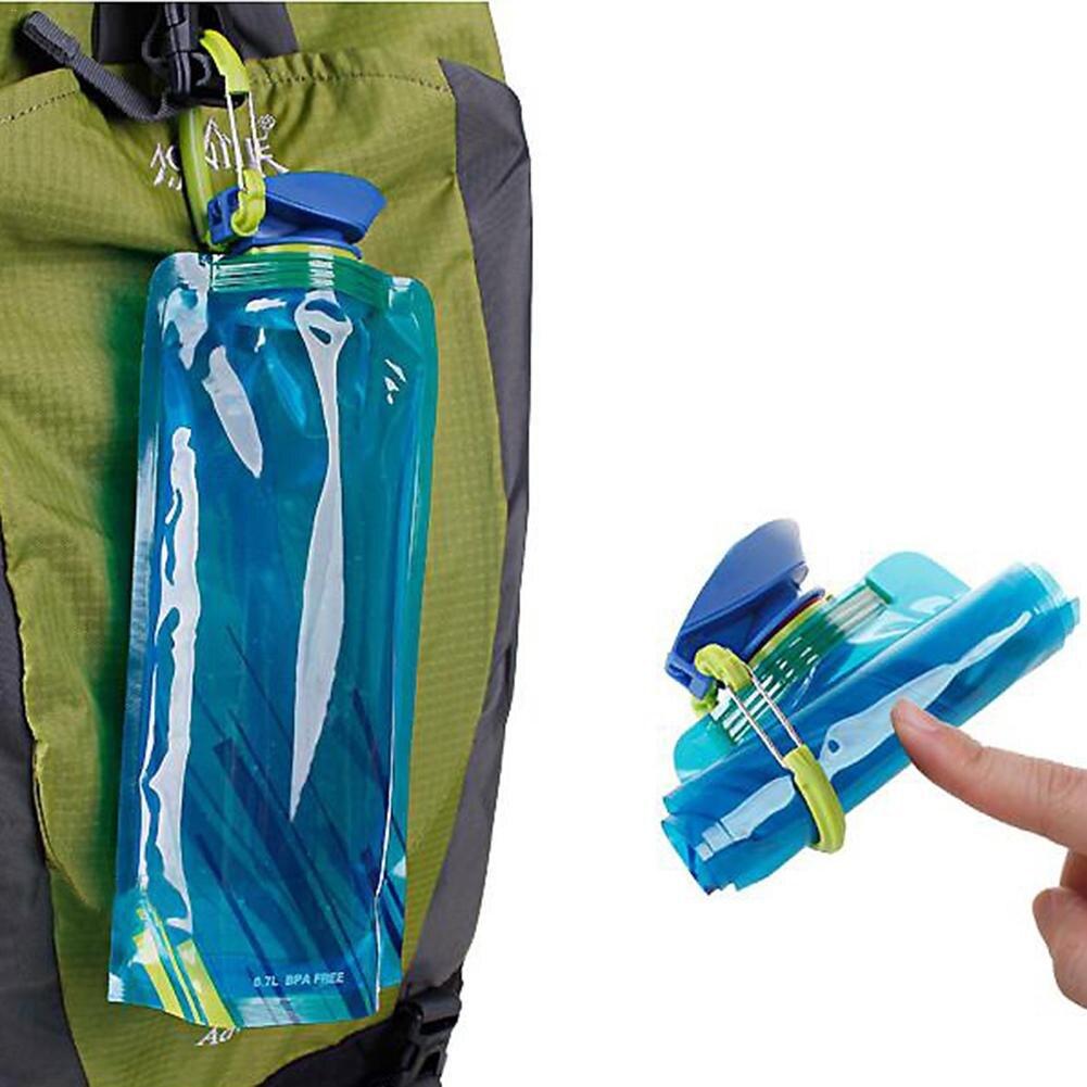 Plegable beber bolsa de botella de agua de la bolsa acampar al aire libre senderismo PE bolsa de agua Frasco blando Squeeze para ciclismo bolsas de agua