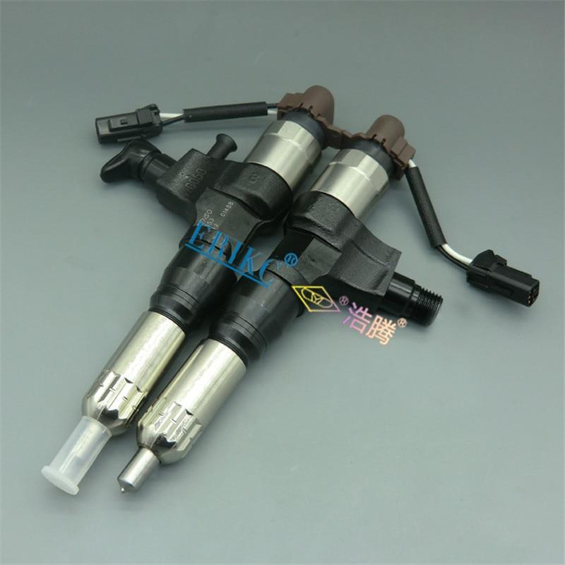 Inyector ERIKC 6355 inyector de combustible de motor de alta presión 095000-6355 0950006355 para excavadora Hino J05E J06 Kobelco