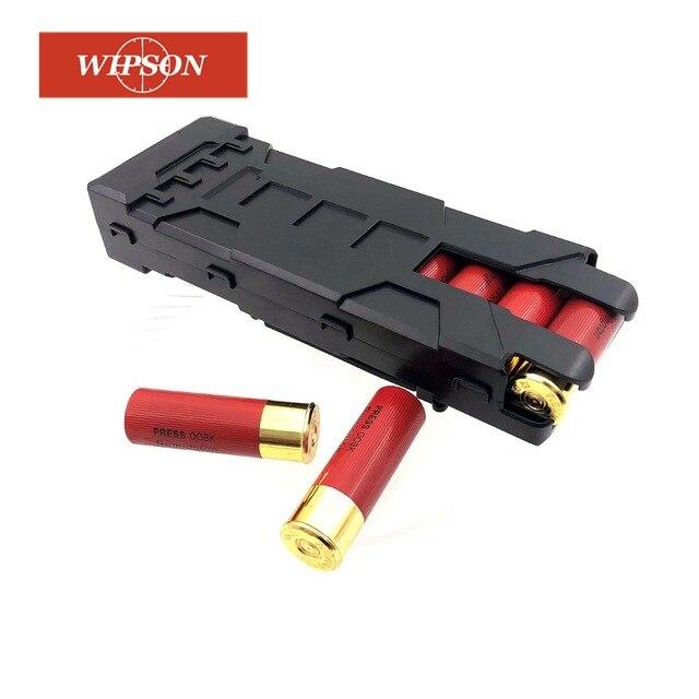 WIPSON, soporte para pistola de tiro, 10 rondas, bolsa táctica ABS, bolsa de recarga, bolsa Molle para 12 Gauge de munición para cargador de cartucho