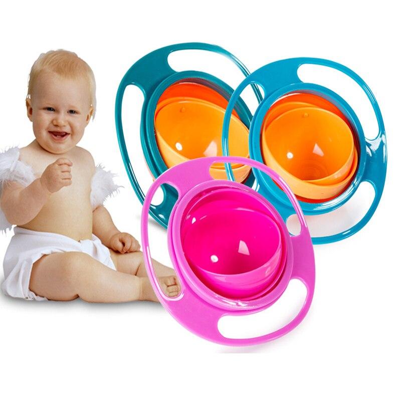 Gran oferta, tazón giratorio Universal de diseño práctico para niños, Bol equilibrado y rotatorio Anti-derrame, novedad de 360, cuenco giratorio a prueba de derrames