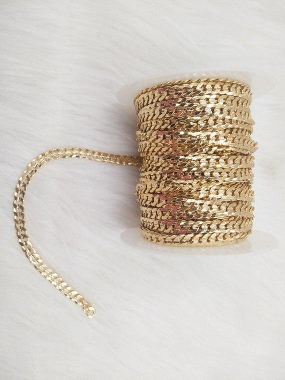 MYLONGINGCHARM цепь из твердой латуни с золотым покрытием, большая цепь с алмазной огранкой, толстая и тяжелая, F154JIN