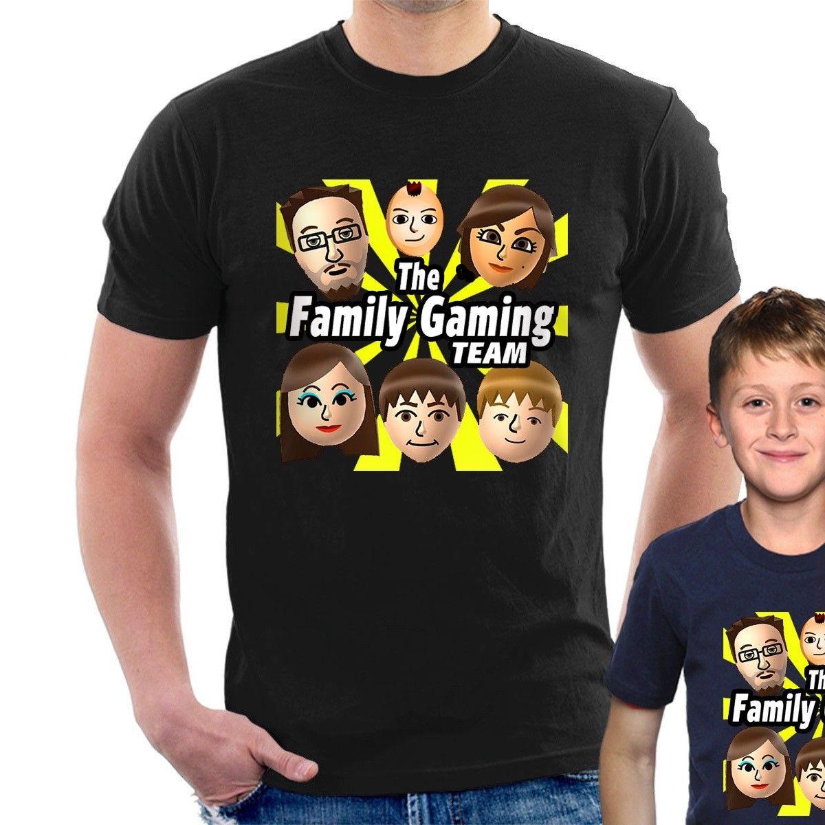 Camiseta FGTeeV para el equipo de juegos familiar youtuber Gaming fgtv, camiseta de dibujos animados para adultos y niños, nueva camiseta Unisex de moda para hombres
