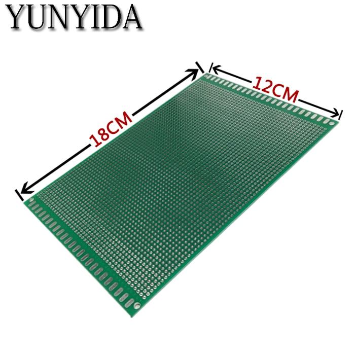Frete grátis 1 pcs 12x18 cm Double Side Prototype PCB Universal Printed Circuit Board