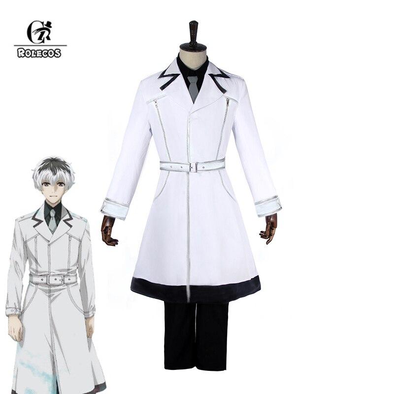 ROLECOS Tokyo Ghoul re Cosplay Haise Sasaki Cosplay Tokyo Kushu re traje Kaneki Ken Anime hombres chaqueta pantalones camisa