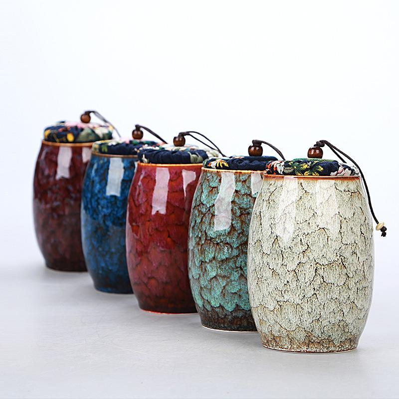 Modern Style Ceramics Tea Caddies Kung Fu Tea Set Accessories Portable Tea Storage Jar Caddy Teaware Accessories Home Decor