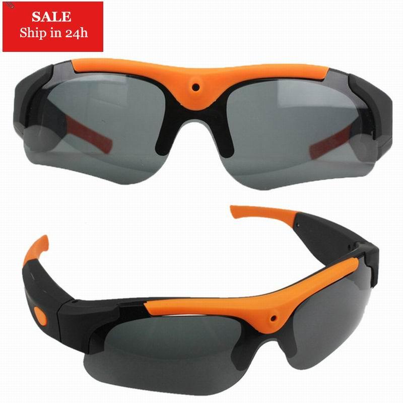 2020 HD 1080P 8GB/16GB/32GB Camera Smart Glasses Black/Orange Polarized Lens Sunglasses Camera Action Sport Video Camera Glasses