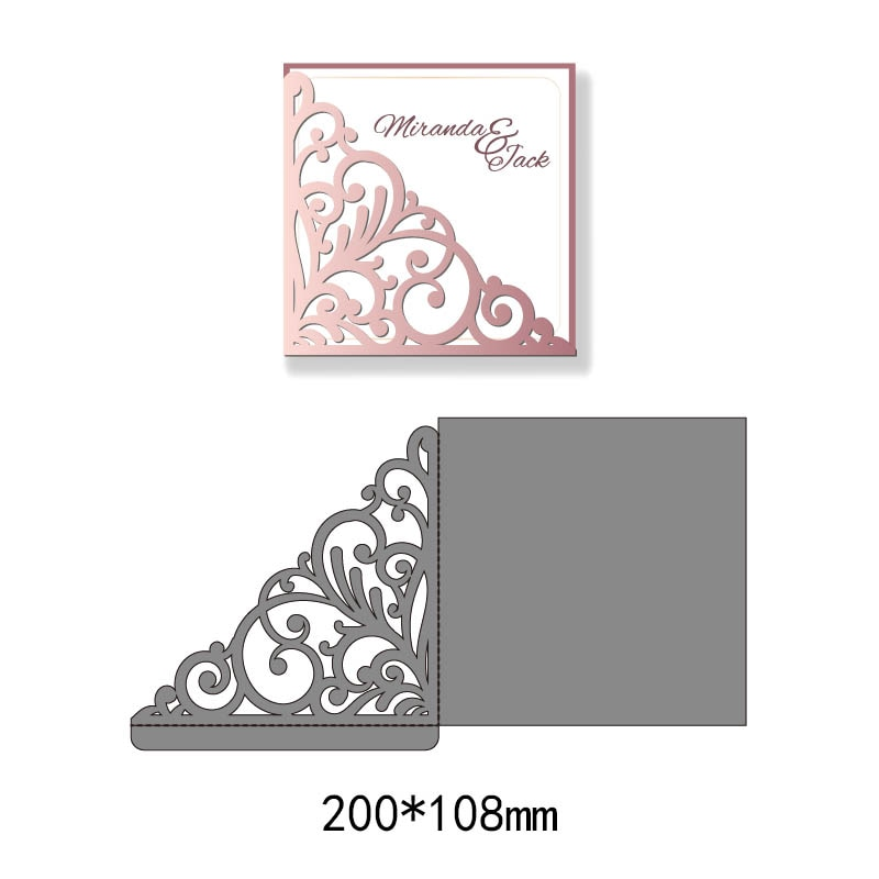Cutting Die flower heart Frame Metal hollow Stencil for Paper Card Decor Craft Scrapbooking Stamps Album Embossing new fashion