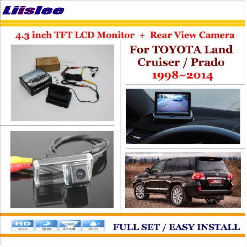 """Liislee para TOYOTA Land Cruiser/Prado (sin llanta de repuesto) Cámara de coche + Monitor LCD de 4,3 """"NTSC PAL = sistema trasero de estacionamiento 2 en 1"""