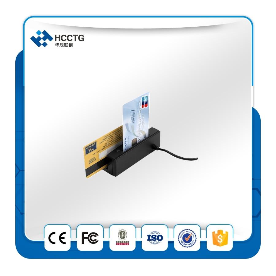 USB Portable Magnetic Stripe card reader+ IC Card reader Combo Skimmer+ Free SDK HCC100