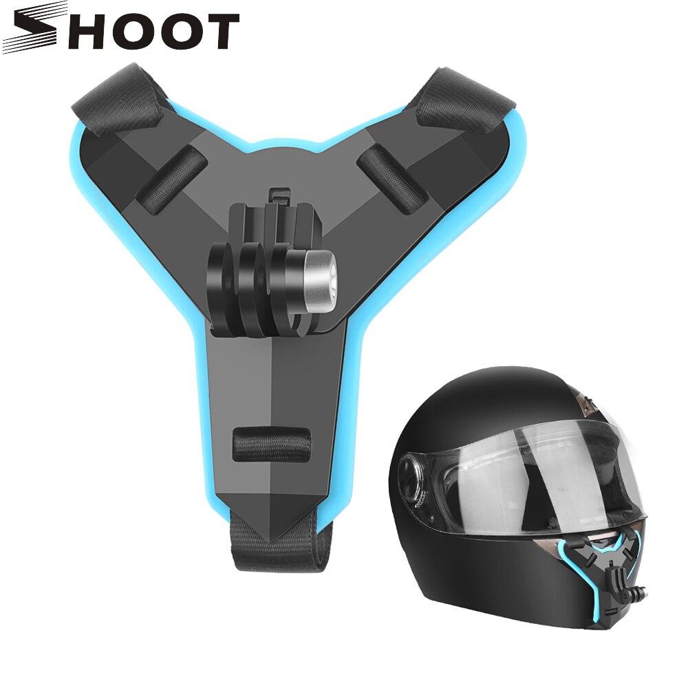 Фото - SHOOT Motorcycle Helmet Front Chin Bracket Holder Tripod Mount for GoPro Hero 9 8 7 Black Xiaomi Yi 4K Sjcam Eken H9r Insta 360 telesin монопод трансформер 3 way с ручкой поплавком для gopro xiaomi sjcam eken